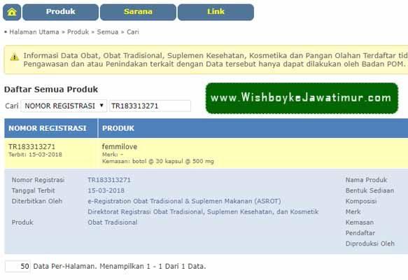 Produk Wish Femmilove Original Surabaya Medan Pekan Baru Palembang Makassar BPOM Terpercaya